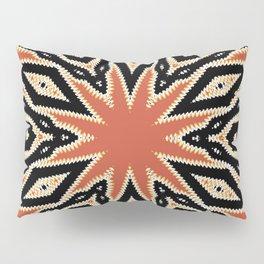 Aztec Orange Pattern Pillow Sham