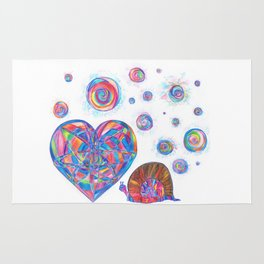 Whole souls, heart and snail Rug