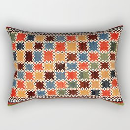 Qashqa'i Fars Southwest Persian Kilim Print Rectangular Pillow