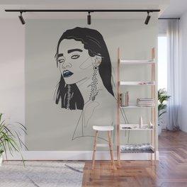 Rihanna blue Wall Mural