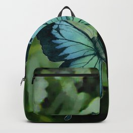 Tropical Blue Ulysses Butterfly Backpack