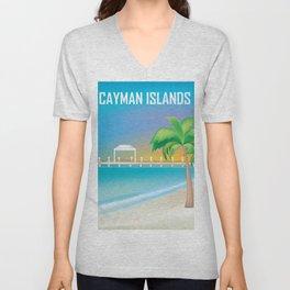 Cayman Islands - Skyline Illustration by Loose Petals Unisex V-Neck