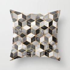 Black & White Cubes Throw Pillow