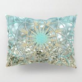 Star Mandala on Lemon Twist Beach Glitter #4 #shiny #decor #art #society6 Pillow Sham