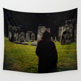 Druid Princess of Stonehenge Wall Tapestry
