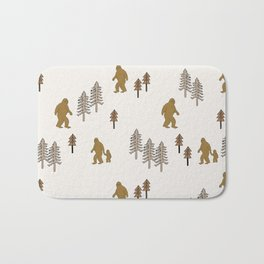 Sasquatch forest woodland mythic animal nature pattern cute kids design forest Bath Mat