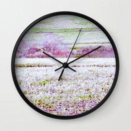 Flower Landscape Wall Clock