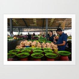 Nadi Market Art Print