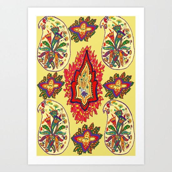 Paisleys Art Print