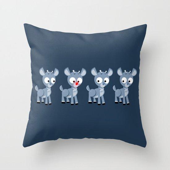 Hey look, it's Rudolph! Throw Pillow