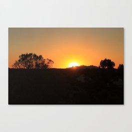 Red Uluru Canvas Print