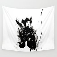 warrior Wall Tapestries featuring WARRIOR by jgart
