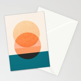 Abstraction_NEW_SUNSET_OCEAN_WAVE_POP_ART_Minimalism_0022D Stationery Cards