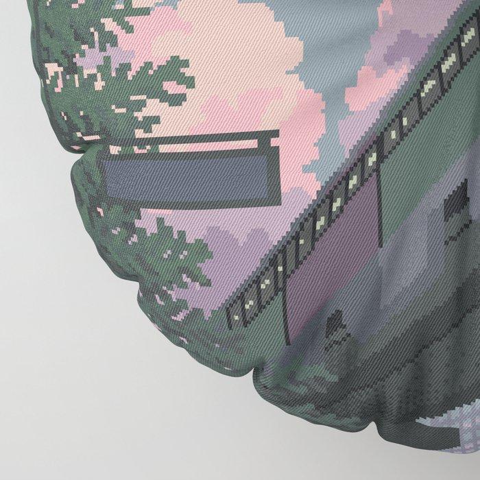 Moonrise Train Floor Pillow