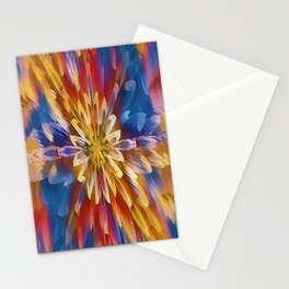 Color Flow Abstract Stationery Cards