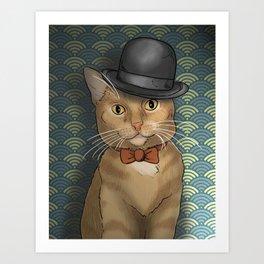 The Dapper Cat Art Print