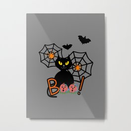 Happy Whimsical Halloween Metal Print