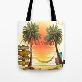 Hawaiian Tropical Sunset Tote Bag