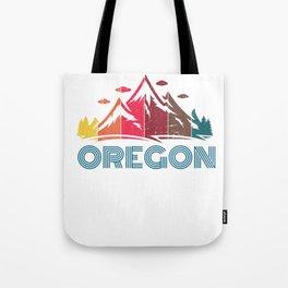 Retro Oregon Mountain Design for Men Women and Kids Tote Bag