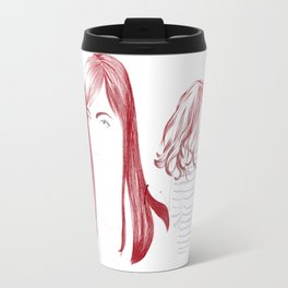 Red Girl Travel Mug