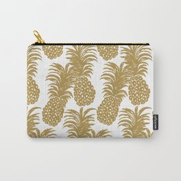 Gold Pineapples Carry-All Pouch