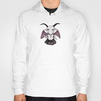 baphomet Hoodies featuring Plushie Baphomet  by Ludwig Van Bacon