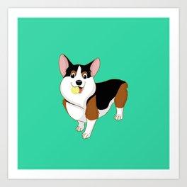 Playful Corgi Art Print