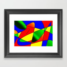 ABSTRACT CURVES #2 (Multicolor Bright) Framed Art Print