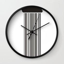 Barcode Rain Wall Clock