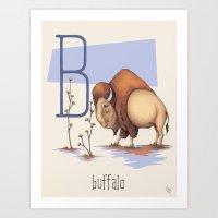 B is for Buffalo Art Print