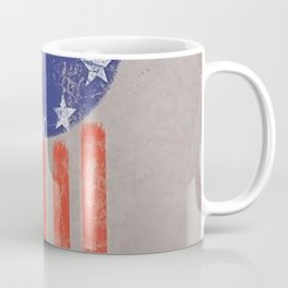Old World American Flag Coffee Mug