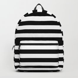 Small Black and White Stripes Pattern Backpack