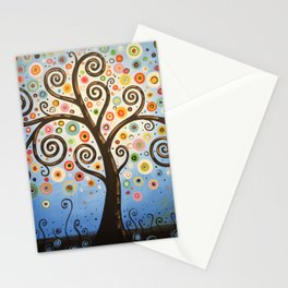 Abstract Art Landscape Original Painting ... Twilight Dreams Stationery Cards