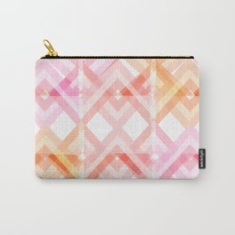 Pink/Orange Pattern Carry-All Pouch