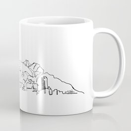 El Paso Skyline Drawing Coffee Mug