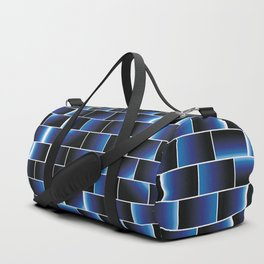 Blue set of tiles Duffle Bag