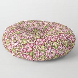 Delicate Floral Stripes Floor Pillow