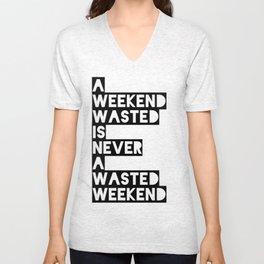 A Weekend Water (Black) Unisex V-Neck