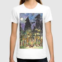 Campfire Under a Full Moon T-shirt
