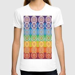 SEVEN CHAKRA SYMBOLS OF HEALING ART T-shirt