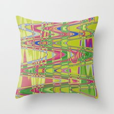Playing with waves 4 Throw Pillow