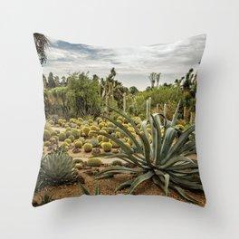 Succulents at Huntington Desert Garden No. 3 Throw Pillow