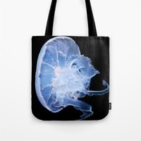 jelly fish Tote Bags featuring Jelly Fish by Kerri Ann Crau