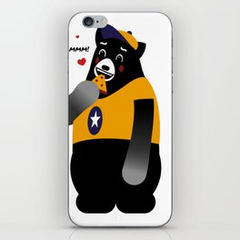 Grizz Loves Pizza iPhone Skin