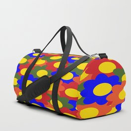 Colorful Flowers Red Blue Green Orange Duffle Bag
