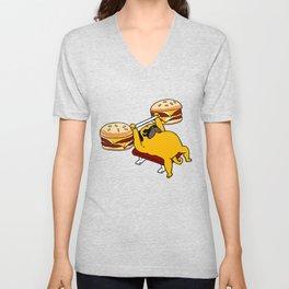 Double Cheeseburger Monday Unisex V-Neck