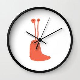 Red Slug Wall Clock