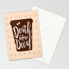 Death before Decaf - Coffee Stationery Cards