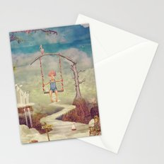 Mysterious city in sky Stationery Cards