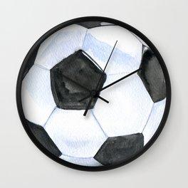 Soccer Ball Watercolor Wall Clock